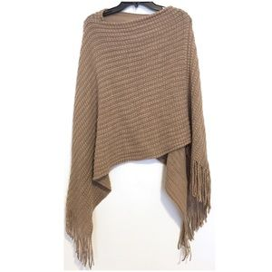 NORDSTROM Beige Shawl Poncho Size Small